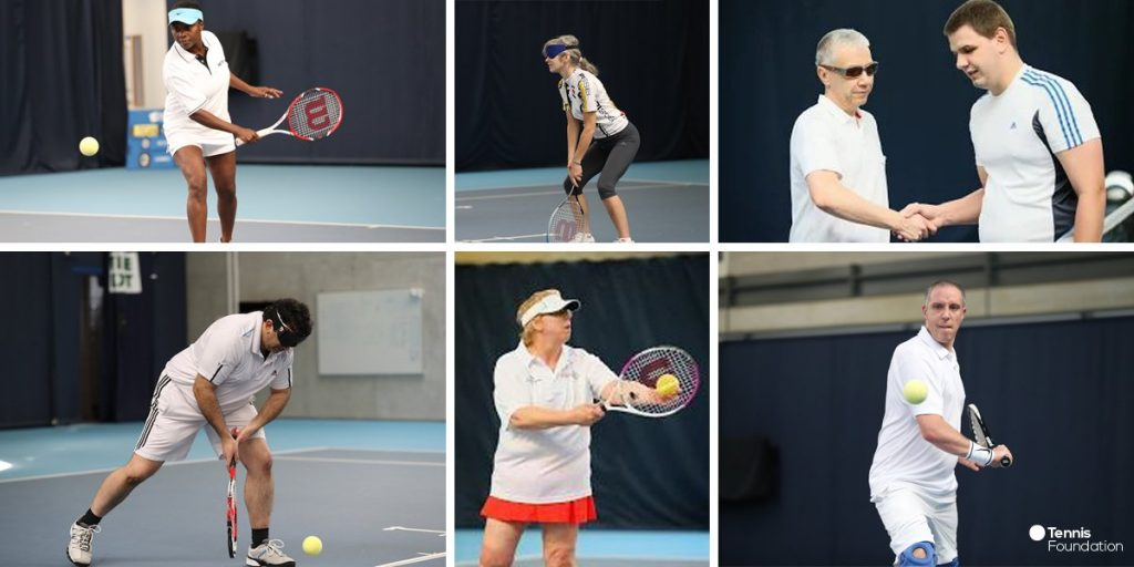 British Vision Impaired tennis team 2017 - individual photo montage  ©Tennis Foundation