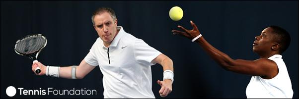 Chris Baily and Brenda Cassell Winnner and Runner up in first International Bllnd Tennis Tournament