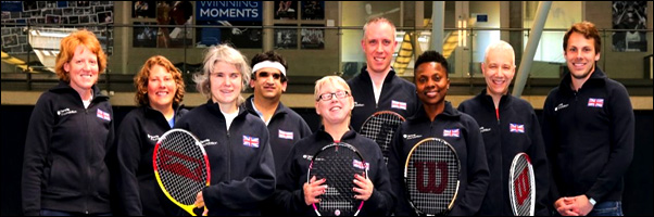 Great Britain vision impaired tennis team in Spain