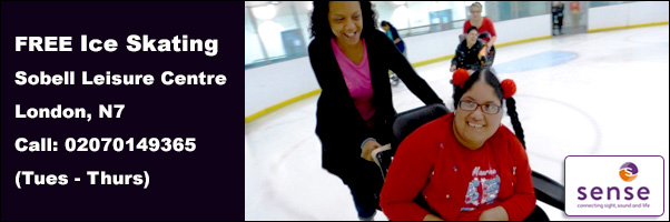 Ice skating at the Sobell Leisure Centre with Sense