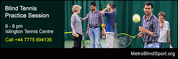 Blind Tennis Practice Session ITC