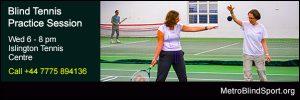 Blind Tennis Practice Session Islington