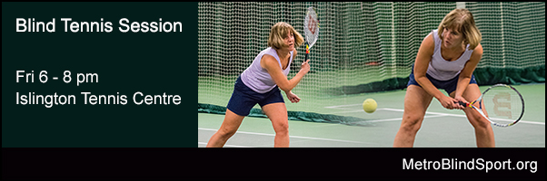 Blind Tennis Session Islington