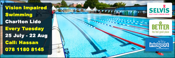 Swimming for Vision Impaired people is coming to Greenwich-with SELVis