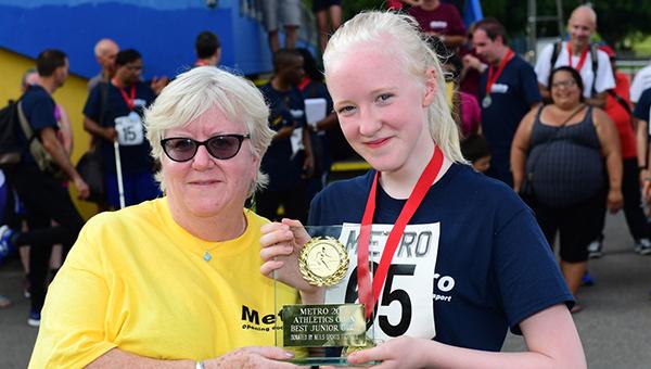 Trophy time for Top Medal Winning Girl