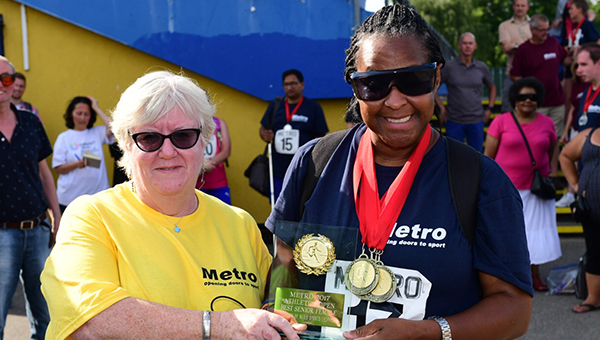 Trophy time for Top Medal Winning Woman