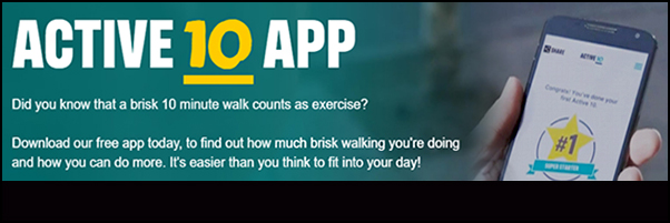 Free walking App: Search for Active 10
