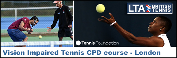 Vision Impaired Tennis CPD course - London