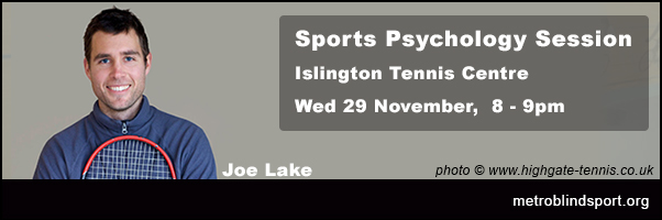 Sports Psychology with Joe Lake 29 Nov