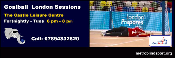 Goalball London- call 07894832820