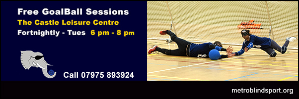 Free Goalball fortnighltly on Tuesdays!