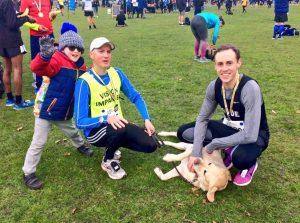 Andrew Jones, Guide Dog Bobby and Guide Runner Ben Roback
