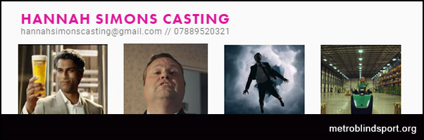 HANNAH SIMONS CASTING casting for blind or partially sighted men 30-45!