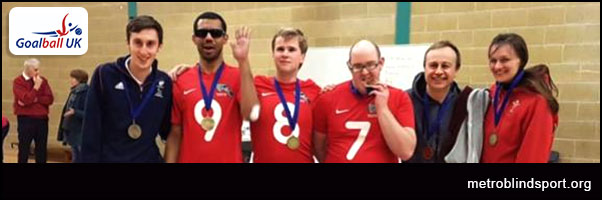 Goalball:London Elephants squad picture with Bronze medals
