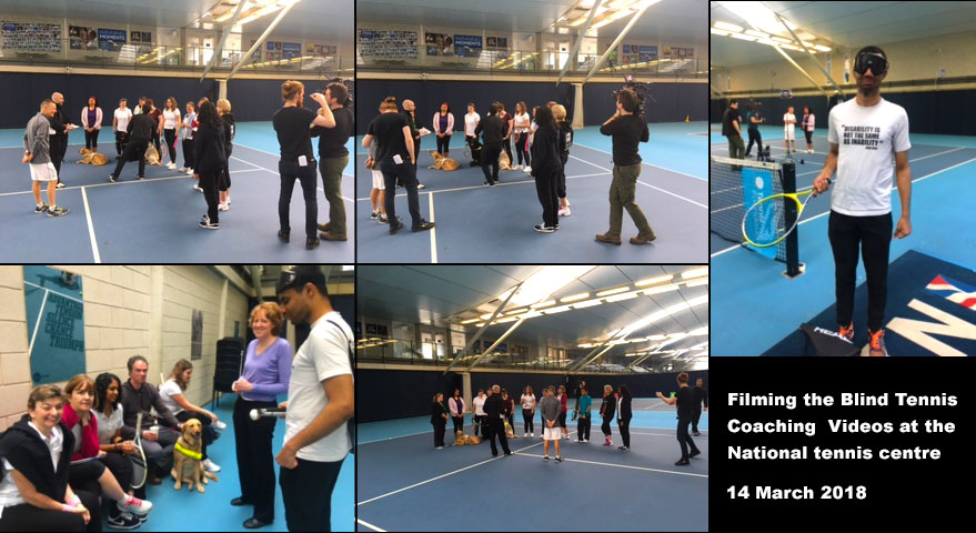 Tennis filming day at NTC from Linda Almonds photos in a montage