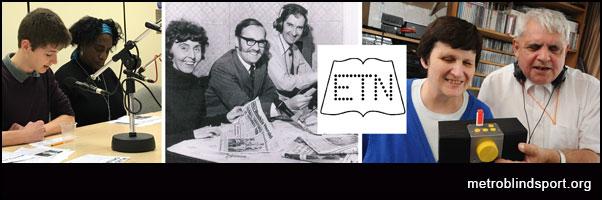 Enfield talking newspaper archives metro blind sport.