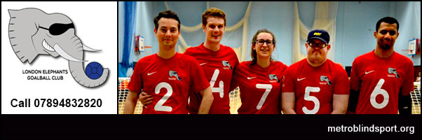 Play goalball with the London elephants