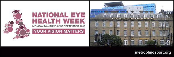 National Eye Health Week 24 -30 Sept 2018