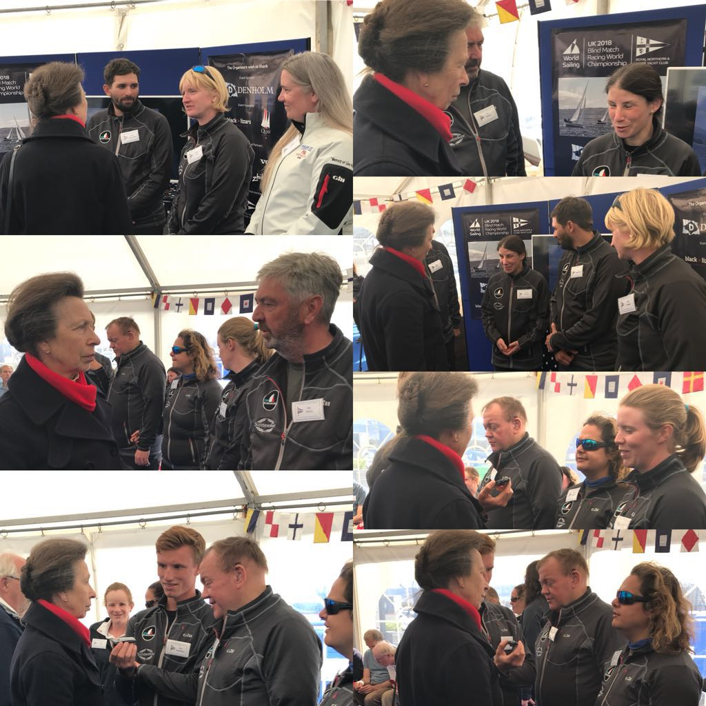 Princess Anne chats to the GBR teams