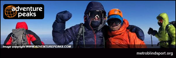 Blind British man climbs Europes highest Mountain