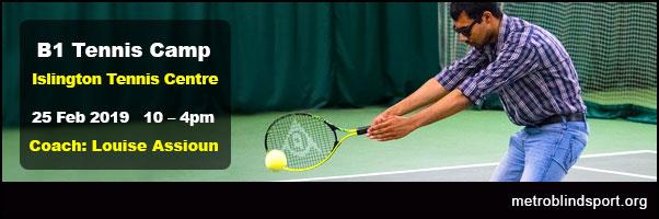 B1 Tennis Camp - Islington Tennis Centre 25 Feb 2019