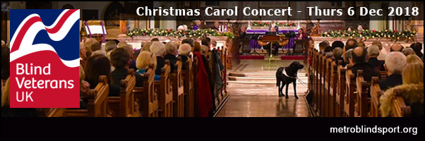 Blind Veterans Christmas Carol Concert 6 Dec!