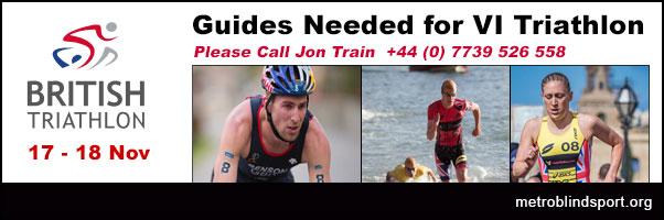 Guides Needed for VI Triathlon 17-18 Nov call +44 (0) 7739 526 558
