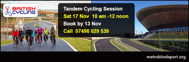 Tandem Back riders need for filming, please book by 13 Nov!