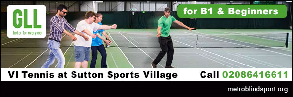Blind & VI Tennis in Sutton for Beginners Call 02086416611