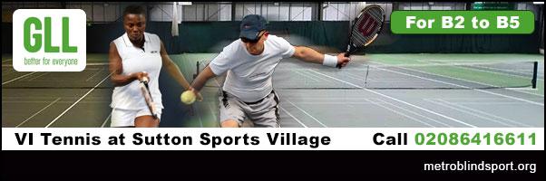 VI Tennis in Sutton Call 02086416611