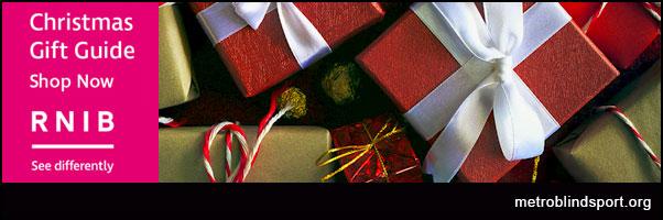 Visit the RNIB Shop for festive gift Ideas