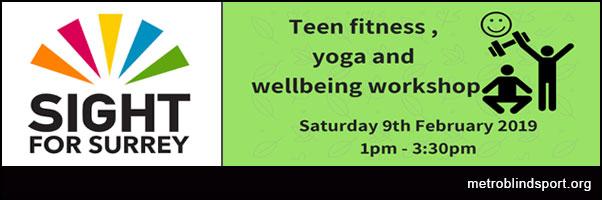 Teen Fitness,Yoga & Wellbeing - 9 Feb 2019