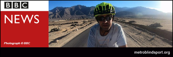 Blind Indian cyclist conquering the Himalayas - BBC video