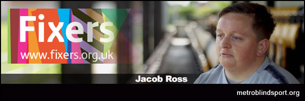 Jacob Ross encouraging people with disabilities to pursue a career in sports.