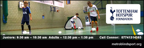 Junior VI & Adult Blind Football call 07741314353