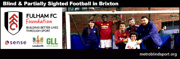 Blind & VI Football in Brixton 6 pm - 7 pm!
