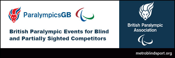 British Paralympic Events for Blind and Partially Sighted Competitors