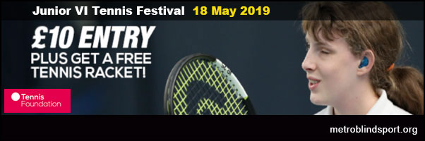 Junior Blind & Partially Sighted Tennis Festival 18 May