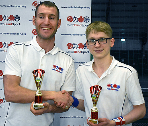 Men's Doubles Partially Sighted Winners: Matt Page and Ewan Hayward