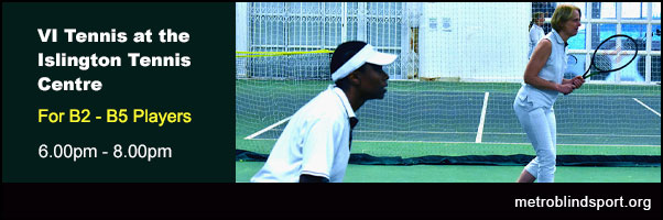 Practice and improve your VI Tennis on Fridays at the ITC