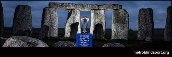 ICC Cricket Trophy World Tour! Trophy at Stonehenge