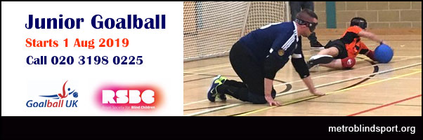 New Junior Goalball Sessions Starts 1 Aug