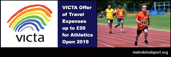 VICTA offers £50 travel Expenses to Athletics Open
