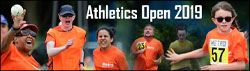 Athletic open 2019 coundown  banner image montage of runners in track events