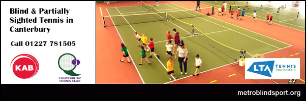 Blind and Partially Sighted Tennis in Canterbury