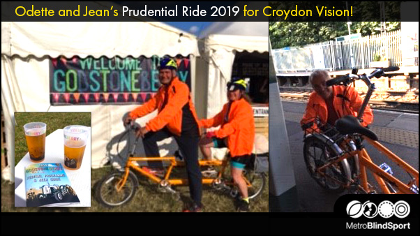 Odette and Jean's Prudential Ride 2019 for Croydon Vision!
