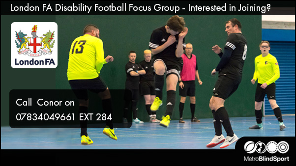 London FA Disability Football Focus Group