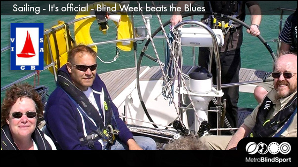 Sailing - It's official - Blind Week beats the Blues