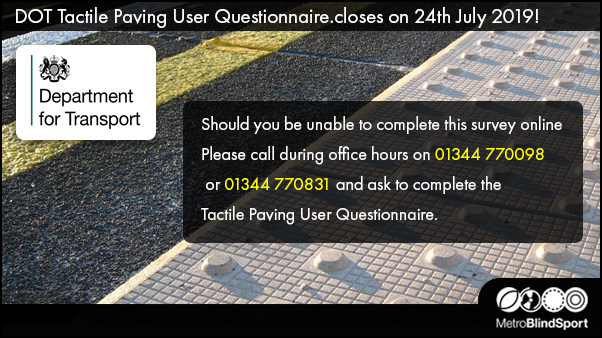 Tactile Paving Survey- Closes on the 24 July