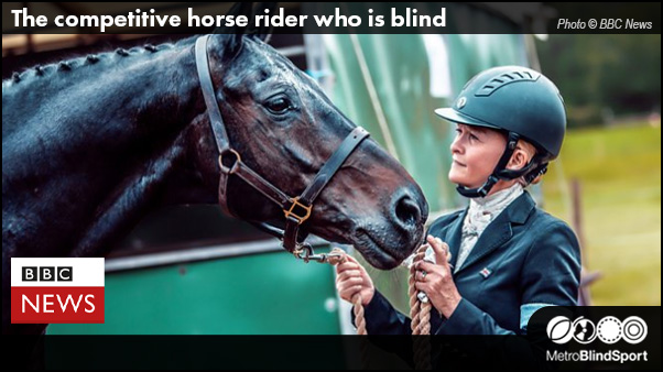 The competitive horse rider who is blind - BBC News